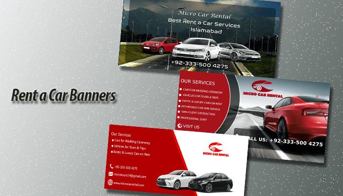 Rent A Car Banner Designs